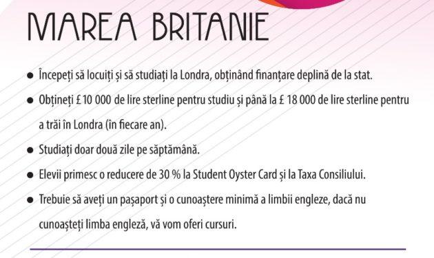 Studii in UK